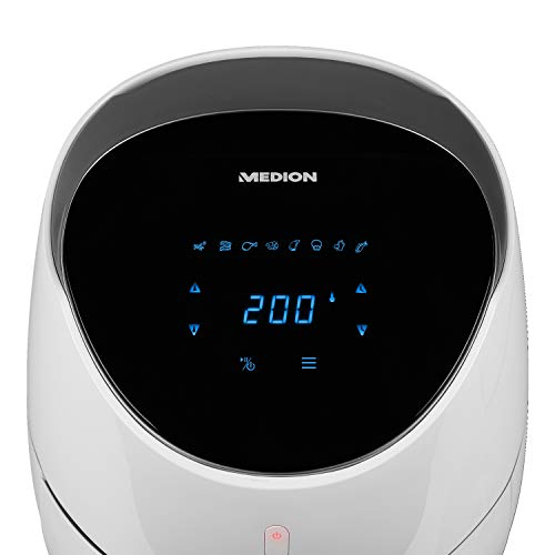 MEDION Heißluftfritteuse XXL 2000 Watt, 4,5 Liter, Digital Display, ölfreies Frittieren ohne Fett,...
